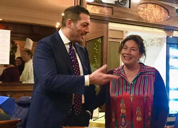 Il titolare Carmine Leonessa con la mamma Giulia
