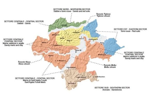 Mappa Nizza Docg