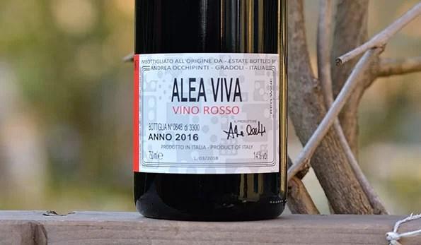 Alea Viva Rosso 2016 Andrea Occhipinti