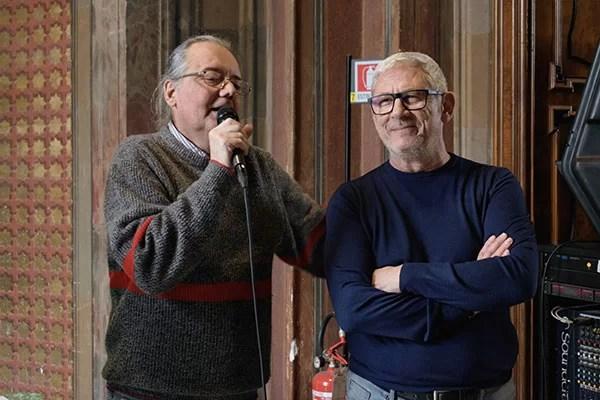 Massimo Tarunti e Tano Simionato durante la premiazione