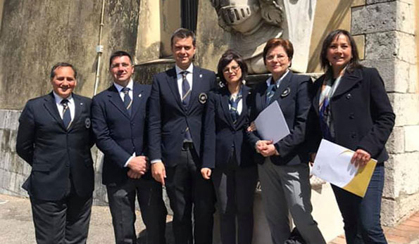 Pasquale Di Nardo, Antonio Follo, Piero Gabriele, Nicoletta Gargiulo, Maria Grazia De Luca e Carmen Guerriero