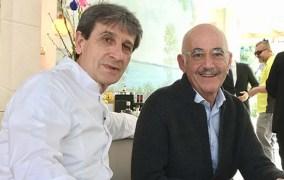 A Fish&Chef 2019 Sandro Serva del Ristorante La Trota di Rivodutri: una mano di cristallo con il pesce d'acqua dolce