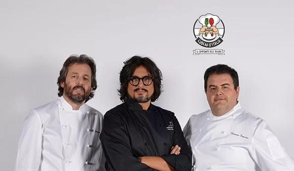 da sinistra Cristiano Tomei, Alessandro Borghese, Gennarino Esposito