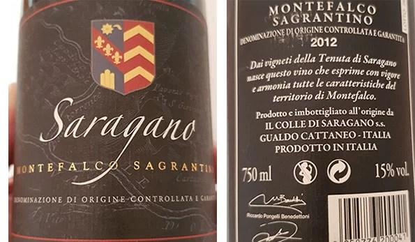 Montefalco Sagrantino 2012 Tenuta di Saragano