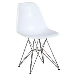Eames Chair White Patio Bar Chairs Swivel Plastic Side Wire Miami Event Tables Lavish Legs