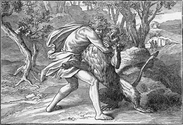 Samson Slaying a Lion Judges 14:6