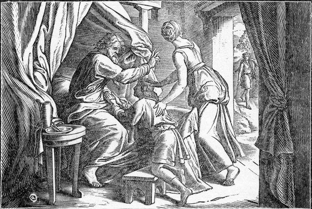 Isaac blesses Jacob Genesis 27:28-29