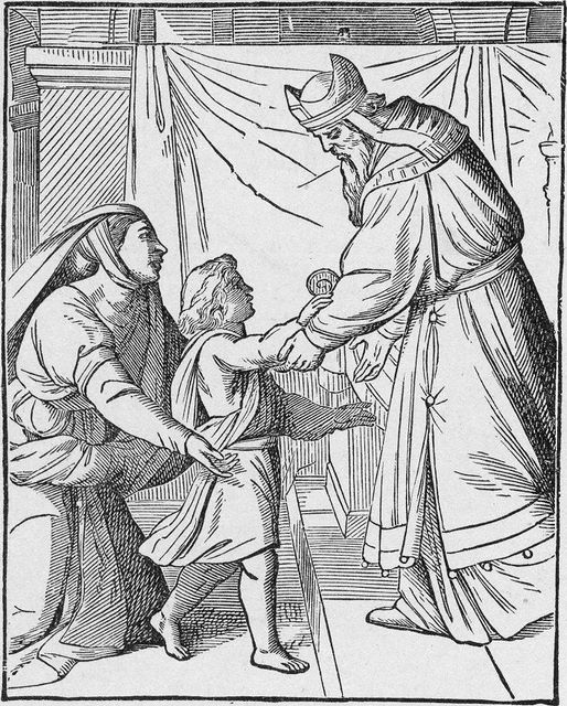 Young Samuel Brought to Eli I Samuel 1:24-28