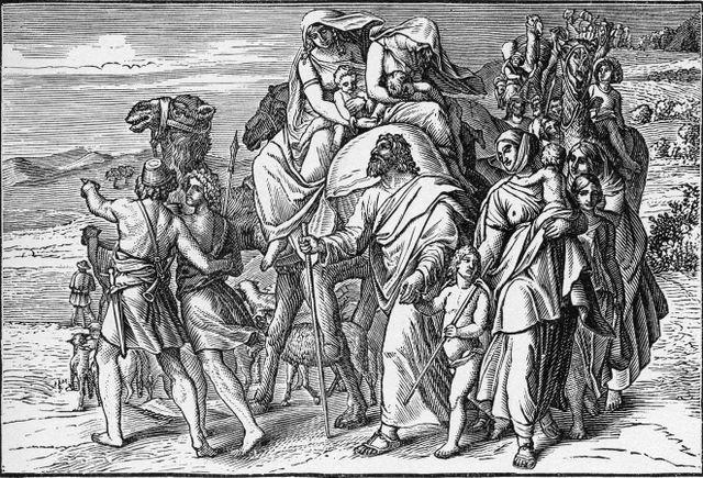 Jacob's depature for Canaan Genesis 31:17-18