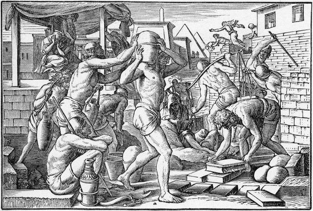 The Israelites Made to Work Hard in Egypt Exodus 1:13-14