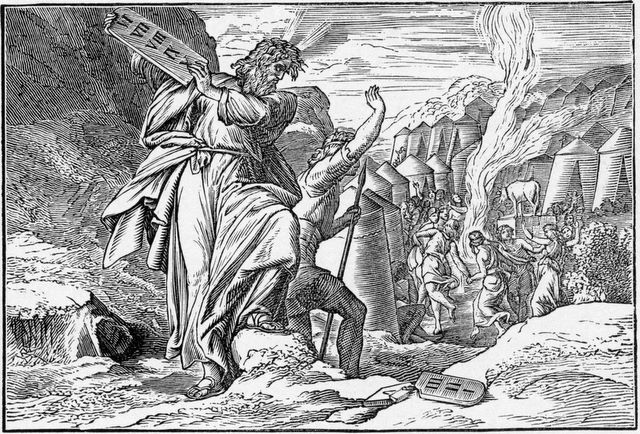 Moses Destroys the Tablets of the Law Exodus 32:19