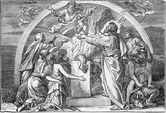 Noah's sacrifice after the flood Genesis 8:20