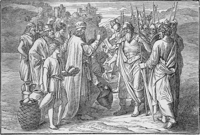 Melchizedeck blesses Abram Genesis 14:18-20