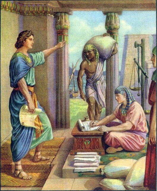 Joseph manages Potiphar's house Genesis 39:2-5