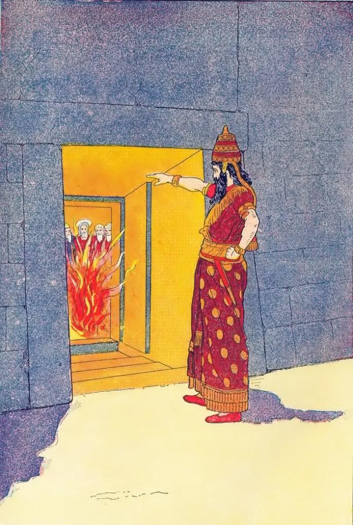 Nebuchadnezzar before the fiery furnace Daniel 3:26