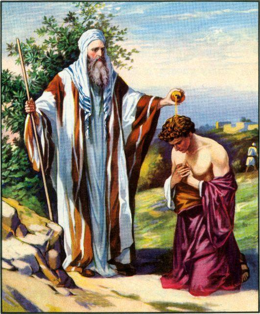 Samuel Anoiting Saul as King I Samuel 10:1