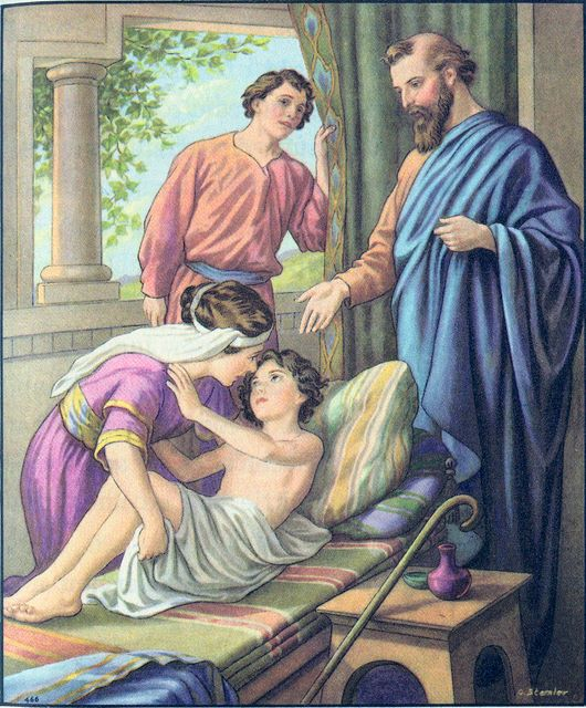 The healing of the Shunnamite woman's son II Kings 4:18-37