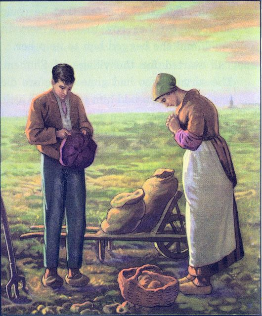 Potato farmer and wife thankful for their harvest Colossians 4:2