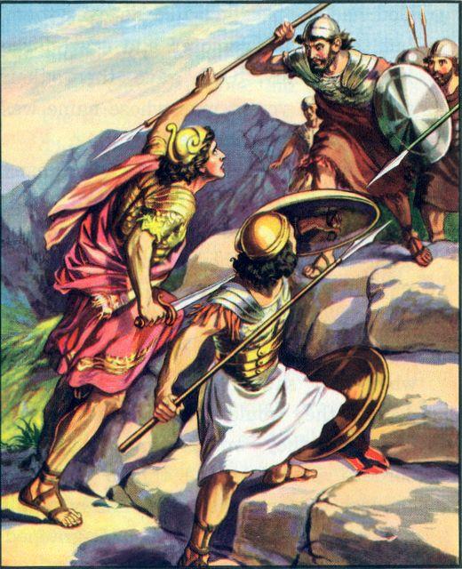 Jonathan and his armorbearer attack the Philistines I Samuel 14:12-14