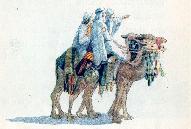 Wise men journeying to Jerusalem Matthew 2:1