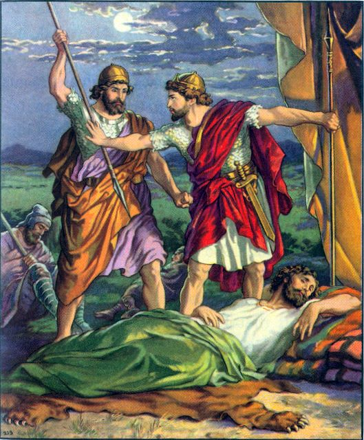 David prevents Saul from being killed I Samuel 26:8-9
