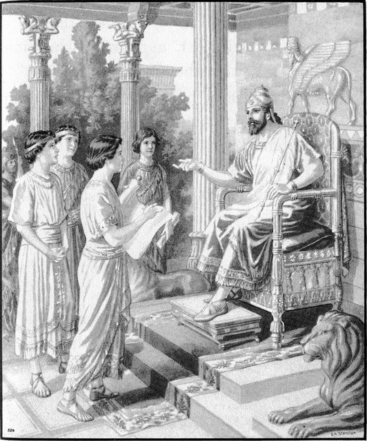 Nebuchadnezzar, king of Babylon, selects several youths to learn Babylonian ways Daniel 1:3-4