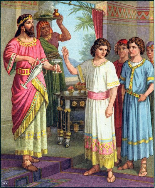 Daniel refuses the food and drink from the king's table Daniel 1:8
