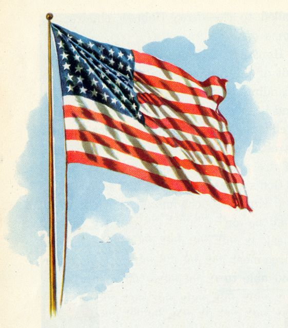 United States of America Flag waving in wind