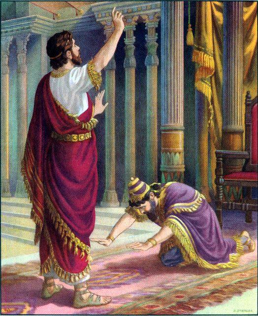 Nebuchadnezzar acknowledges Daniel's God Daniel 2:46