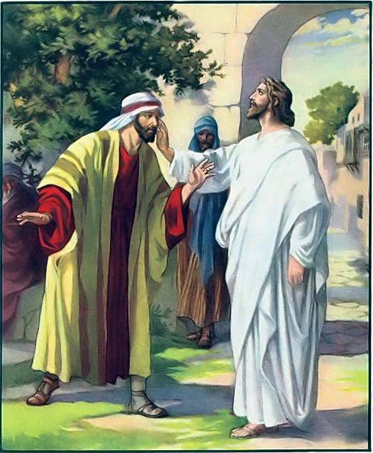 A deaf man is healed Mark 7:32-35