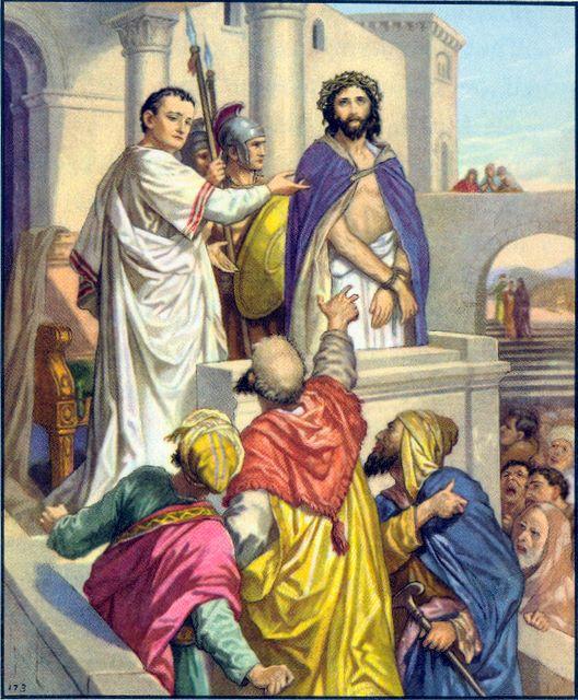 Pilate presents Jesus, saying Behold your king John 19:14-15