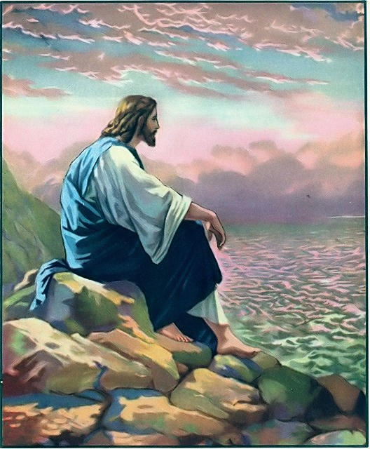 Jesus went on a mountain alone by the Sea of Galilee John 6:15