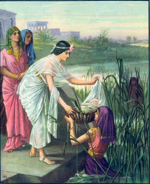 Pharaoh's Daughter Finds Moses in a Basket Exodus 2:5