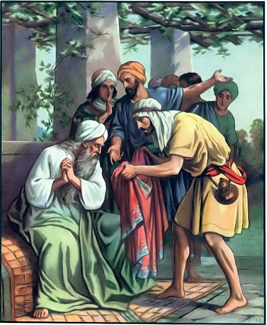 Jacob is told that a cloak was found Genesis 37:31-33