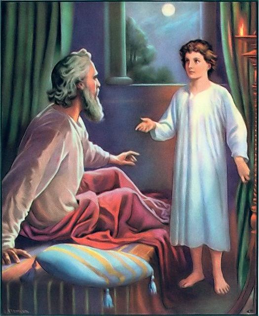 Samuel tells Eli that he heard him calling I Samuel 3:8