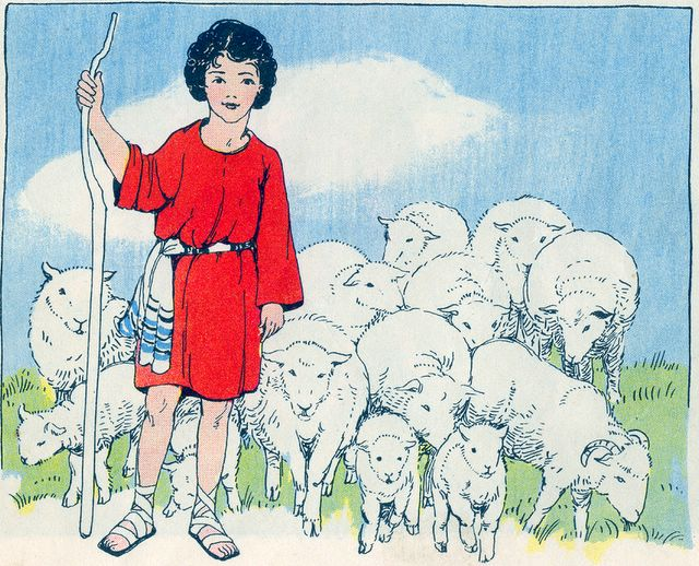 Young David Cares for His Father's Sheep I Samuel 16:19