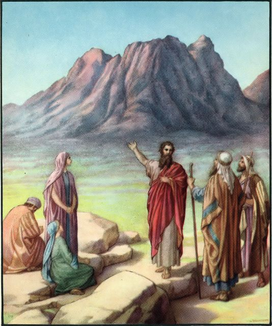 Moses' farewell Deuteronomy 33:1