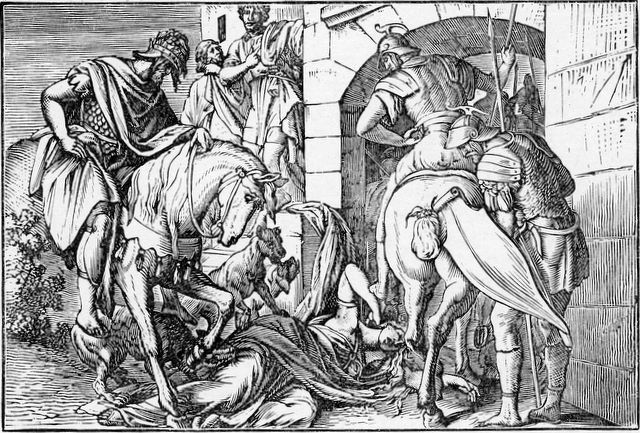 Jezebel eaten by dogs II Kings 9:32-33