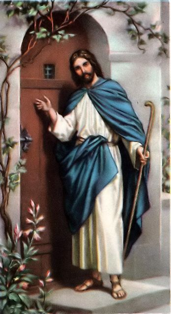 Jesus stands at the door knocking Revelation 3:20