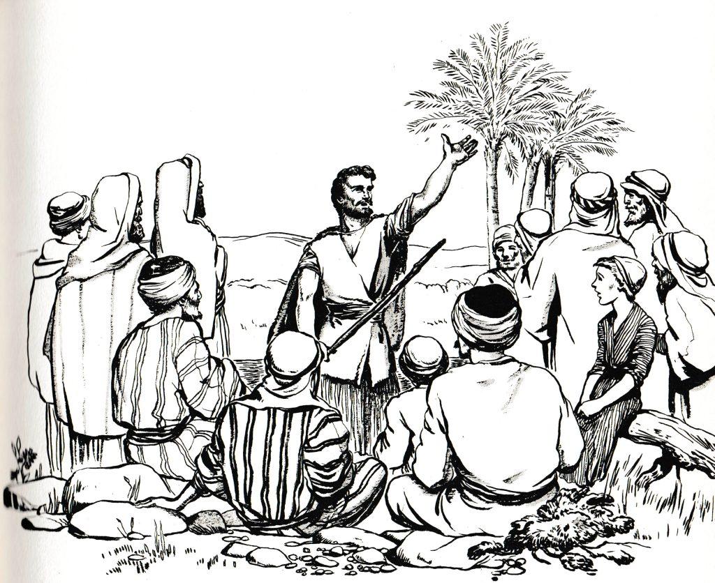 John the Baptist preaching in the wilderness (Matthew 3:1)