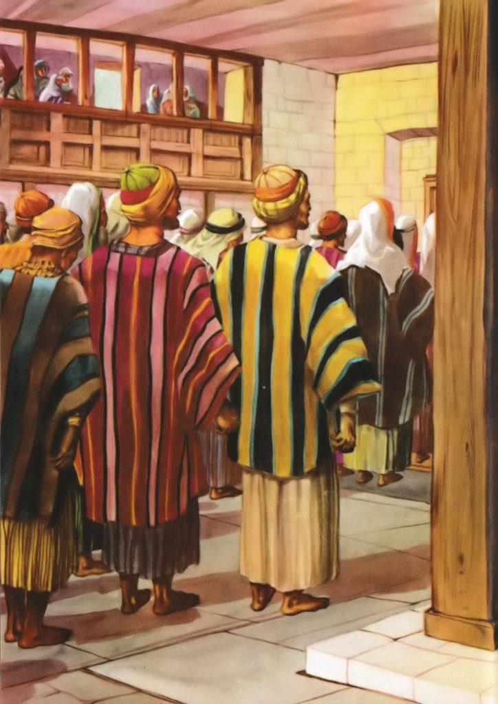 At the synagogue on the Sabbath (Mark 1:21)