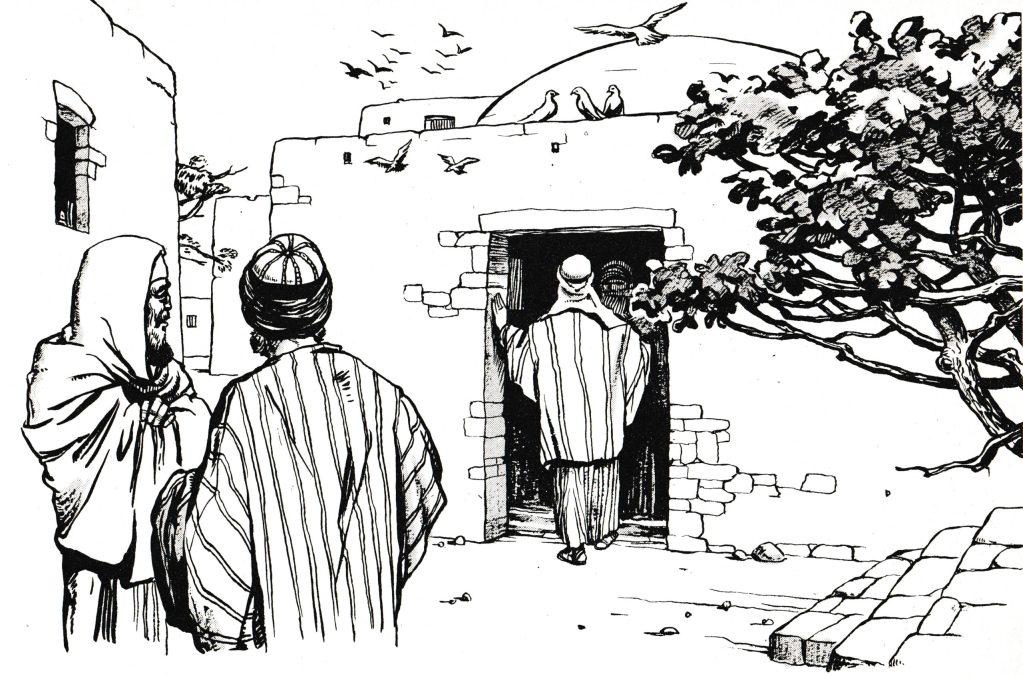 Jesus entered a house (Mark 7:24)