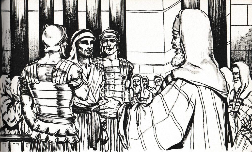 Jesus before Caiaphas (Matthew 26:57)