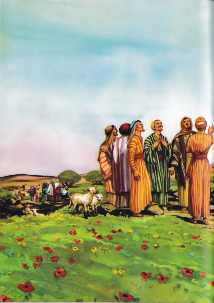 Jesus ascends into heaven (Acts 1:9-10)
