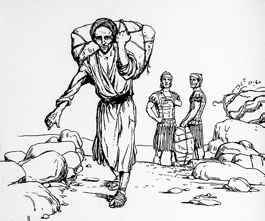 If you are forced to carry a load (Matthew 5:41)