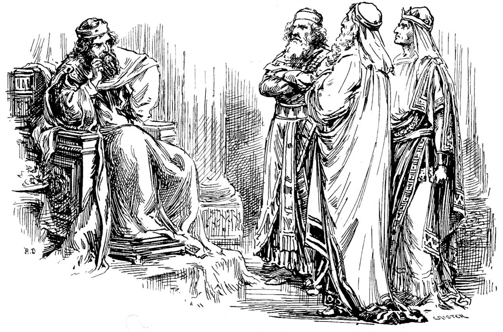 The wise men ask Herod where the child king was born - Matthew 2:2-4