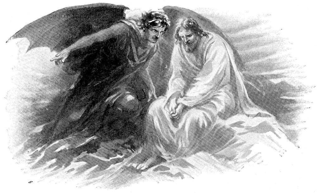 Jesus tempted by Satan - Luke 4:1-2