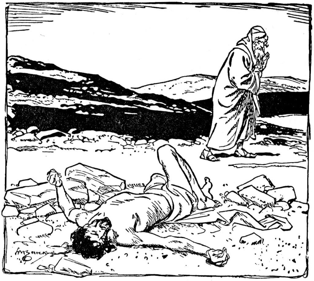 A Levite passes up an injured man (Luke 10:32)