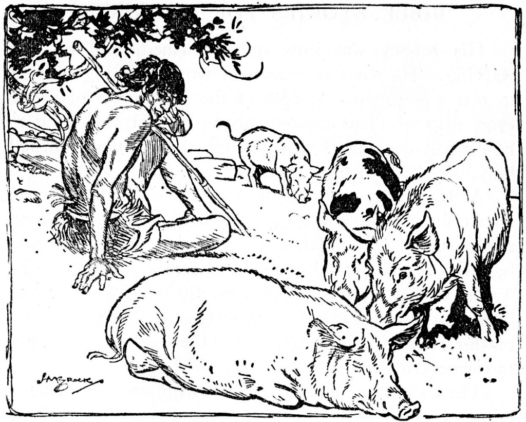 The prodigal son was forced to tend pigs (Luke 15:15)