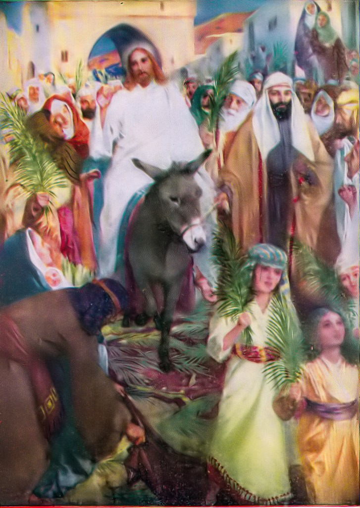 Jesus' triumphal entry into Jerusalem (Matthew 21:6-9)